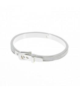 Silver Sparkle Buckle Bracelet