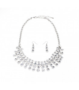 Gorgeous Statement Silver Necklace & Earring Set