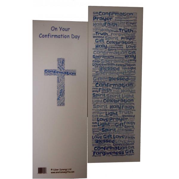 Boys Confirmation Bookmark - Gorgeous Confirmation Double Sided Bookmark - Ideal Token Keepsake Present - Catholic ...
