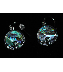 Paua Ladies Claddagh Earrings