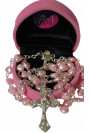 First Rosary Beautiful Heart Rosary Beads In Velvet Heart Shaped Gift Box - Perfect Present