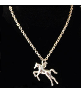 Girls Silver Horse Necklace