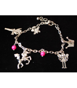 Girls Charm Bracelet - Unicorn, Fairy, Princess