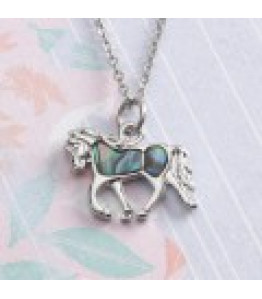 Paua Horse Necklace