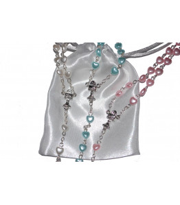Beautiful Heart Rosary Beads Girls or Boys Perfect First Rosary Communion or Confirmation Present